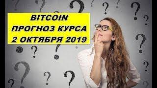 ПРОГНОЗ КУРСА БИТКОИН (Bitcoin, BTC) 02.10.2019