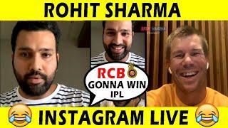 Rohit Sharma LIVE Instagram Chat with David Warner | Full Video | RCB IPL 2020