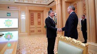 Беглов и Бердымухамедов встретились в Туркменистане