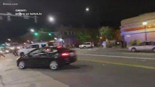 Denver man shares video of aftermath after 3 officers hit by car during protests