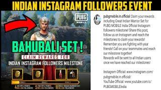 New Indian Instagram Followers Milestone Event In Pubg | Get Free Indian Warrior Set & 300 RP Points