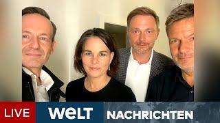 VORSONDIERUNGEN: Das gab es noch nie! Grüne und FDP überraschen mit Instagram-Post | WELT Newsstream