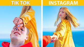 Instagram và TikTok vs Thực Tế! 20 Mẹo Chụp Ảnh