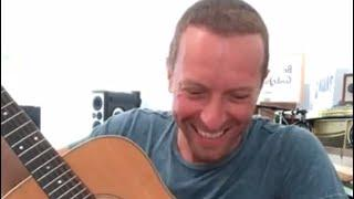 CHRIS MARTIN OF COLDPLAY INSTAGRAM LIVE