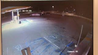 CHP Buttonwillow shares surveillance video of car flying off after hitting roundabout