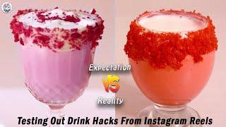 Testing Out Viral Food Hacks | Testing Viral Drink Hacks from Instagram Reel  | Instagram Reel Hacks