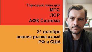 Анализ акций МТС, ЛСР, АФК Система/ Обзор рынка акций РФ и США