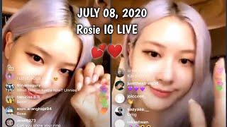 [FULL] BLACKPINK Rosé Instagram Live JULY 08,2020