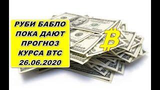 Прогноз курса криптовалют BTC Bitcoin Биткоин 26.06.2020