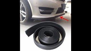 Универсальная черная резиновая губа на бампер авто ez-lip интернет-магазин Тюнинг-Светотехника