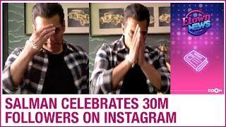 Salman Khan celebrates 30 million followers on Instagram with special post | Bollywood News