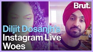 Diljit Dosanjh's Instagram Live Woes
