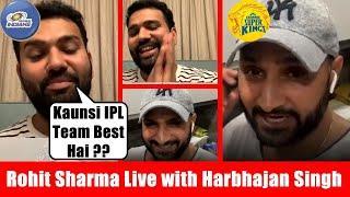 Rohit Sharma LIVE Instagram Chat With Harbhajan Singh - MI Vs Csk | #RohitSharma #Bhajji #Csk