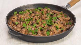 Блюдо, которое хочется готовить часто! Нежная ПЕЧЕНЬ ПО-СТРОГАНОВСКИ. Рецепт от Всегда Вкусно!
