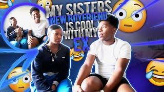 MY LIL SISTER GOT A NEW BOYFRIEND AND HES COOL WITH MY EX! *I had to tell her the real* (mukbang)