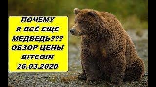 Прогноз курса криптовалют BTC Bitcoin Биткоин 26.03.2020