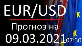 Прогноз форекс 09.03.2021, 7:30, курс доллара eur usd. Forex. Трейдинг с нуля. Заработок в интернете