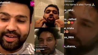 Yuvraj Singh Live INSTAGRAM Chat With Rohit Sharma - #RohitSharma #YuvrajSingh