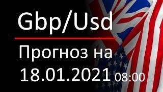Прогноз форекс 18.01.2021 08:00, курс доллара gbpusd. Forex. Трейдинг с нуля для новичков.