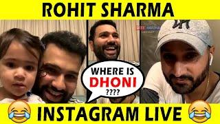 Rohit Sharma LIVE Instagram Chat with Harbahajan Singh |  Full Video | MS Dhoni