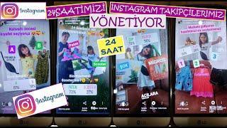İnstagram Takipçilerimiz 24 Saatimizi yönetti  Elif ile Eğlenceli Video #EvdeKal #SendeOyna
