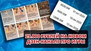 Вывожу канал Яндекс Дзен на монетизацию с нуля (2020) / 25000 рублей за 1 месяц на новом канале