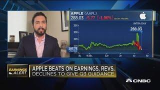 Apple reports earnings beat