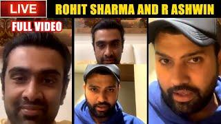 Rohit Sharma LIVE Instagram Chat With R Ashwin | Full Video - Talk About Best IPL Memory