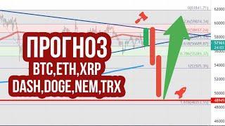Прогноз Эфириум и биткоин! Анализ криптовалют XRP ripple, Dash, Dogecoin, Egld, Nem и TRX. btc, eth