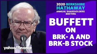 Warren Buffett discusses why shareholders should turn some Berkshire A shares into B shares