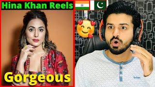 PAKISTANI React to  Hina Khan Latest Instagram Reels Video | Reaction Vlogger