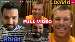 Full Video  - Rohit Sharma LIVE Instagram Chat With David Warner | IND Vs Aus