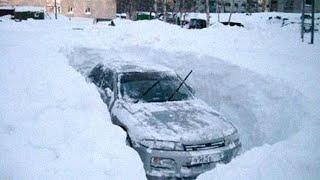 Снега по первый этаж и мороз минус 50. Погода в России